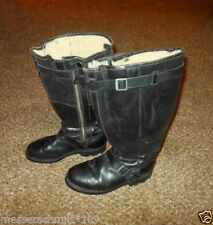 WW2 German Luftwaffe Pilot Leather Flight Boots - Fleece Lined - NICE!