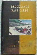 BROOKLANDS RACE PROGRAMMES 1909 x10 Bound Volume Prewar Motor Racing Motor Sport