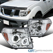 For 05-08 Nissan Frontier 05-07 Pathfinder Clear LED Halo Projector Headlights