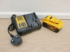 NEW LOGO DEWALT DCB184 18V 5 AH XR LI-ION BATTERY + DCB115 FAST MULTI CHARGER