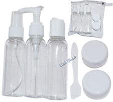 Set 6in1 da Viaggio Contenitori Plastica Porta Liquidi per Aereo Bagaglio a Mano