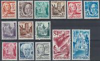 WURTTEMBERG GERMANY FRENCH ZONE Mi. #14-27 mint stamp set! CV $18.00
