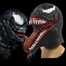 2018 Deluxe Venom Mask Cosplay Eddie Brock Mask Superhero Latex Props Halloween