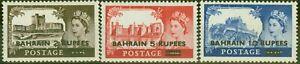 Bahrain 1955 set of 3 SG94-96 Type I Fine MNH (2s6d LMM)