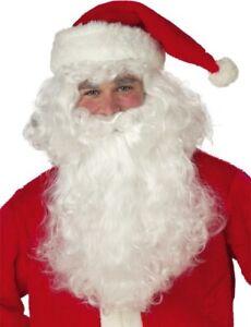 Santa Claus Christmas Xmas Party Dress Up Mens Costume Wig & Beard