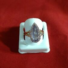 Solitaire ring Lavender stone size 7.25 Sterling Silver store sample 925 (3951)