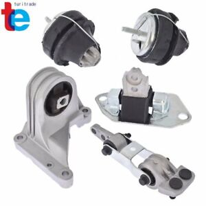 For Volvo S60 V70 XC70 XC90 5pcs Engine Motor Mount & Torque Rod Mount Kit Set