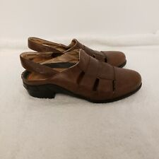 Ariat Brown Leather Slingback Sandals 7