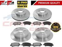 FOR TOYOTA COROLLA 1.4 1.6 VVTi 02-06 FRONT AND REAR BRAKE DISCS PADS SET