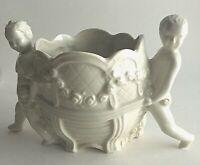 "Vintage Boys & Carriage Ceramic Vase Planter Pot  Made in Japan 5.5"" X 5"" X3"""