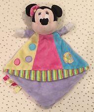 doudou plat Disney Nicotoy MINNIE Circus mauve rose jaune bleu pois éléphant