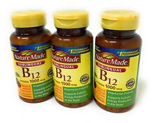 Nature Made Sublingual Vitamin B12 1000 mcg Lozenges, 50 Count * 3 Pack* 10/2020