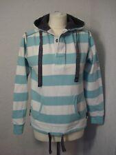 Lazy Jacks blue & white striped hoodie/sweatshirt XS (8-10)