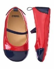 NWT GYMBOREE PRECIOUS PREP RED AND BLUE PATENT CRIB SHOES SIZE 2