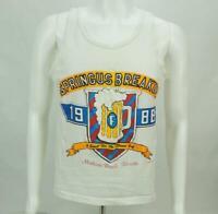Vintage 80 Spring Break Springus Breakus Printed Tank Top T-Shirt Mens Large
