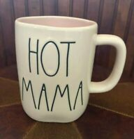 NEW RAE DUNN HOT MAMA COFFEE MUG CUP GIFT EASTER SPRING FHLL MOTHER'S DAY PINK