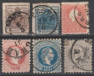 149) AUSTRIA - ÖSTERREICH 1850 / 1967  USED SELECTION  - PERFECT