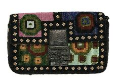 FENDI VINTAGE MULTI COLOR NEEDLEPOINT BEADED BAGUETTE BAG