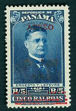 PANAMA 1952 AIRMAIL - surcharged- 1b on 5b  Sc# C128A mint MNH VF