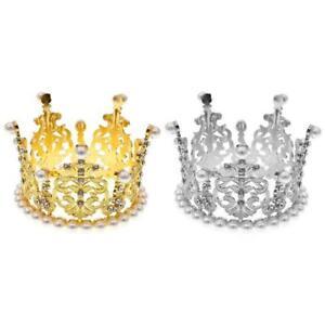 Shiny Rhinestone Crown Newborn Photography Props Baby Party Photoshoot Headwear