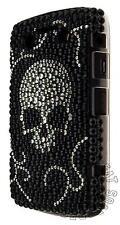 Black Skull Punk Rock Rhinestone Back Case For BlackBerry Bold 9700 & 9780