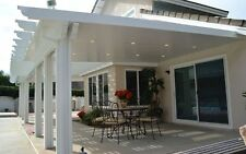 12' x 22' Insulated Aluminum Patio Cover Kit w/ Recessed Lights, Multiple Sizes