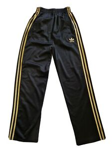 Womens Vintage Adidas Originals Gold/ Black High Wasted Trouser