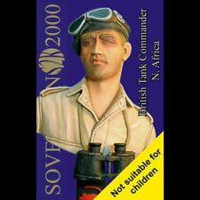 Sovereign 2000 British Tank Commander North Africa Bust 1/9 scale resin S2KB001