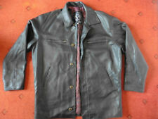 Hip Length Faux Leather Button Other Coats & Jackets for Men