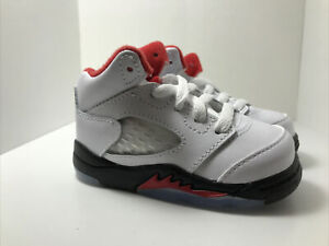 Nike Air Jordan 5 Retro (TD) Size 4C 'Fire Red' 440890 102