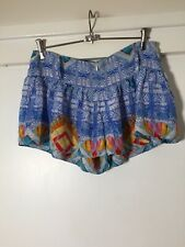 Camilla Womens Silk Blue Shorts Size 2 W32 Inches Excellent Condition!