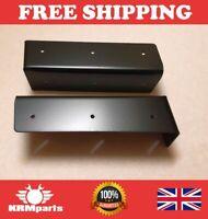 Land Rover Defender Steel Seat Box Corner Carpet Mat Protector Kit - Black