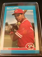 1987 Fleer Barry Larkin Cincinnati Reds #204 Baseball Card