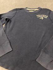 Hollister 🔥 Mens M Long Sleeve Blue Shirt