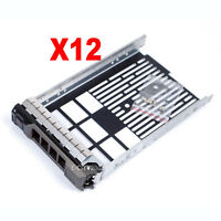 """12pcs 3.5"""" SAS Hard Drive Caddy Tray Sled Hot-Swap For Dell PowerVault MD1200"""