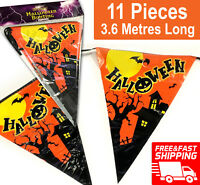 3.6M Halloween Bunting Garland Decoration Hanging Pumpkin Bat Scary Kids Party