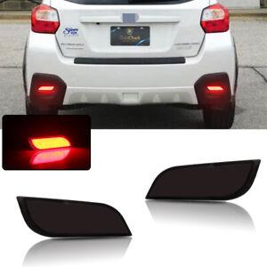 Rear Fog Light Red LED Brake Tail Lamp For 2008-2018 Subaru Impreza WRX STi