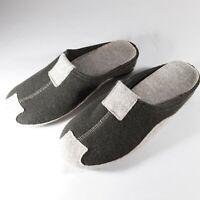 Italian Boiled Wool Felted Slippers Slip On Mule Sz 8.5 Womens Sz 7 Mens