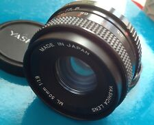YASHICA obiettivo 50 mm 1.9 SUPERLUMINOSO praticamente NUOVO anche CONTAX