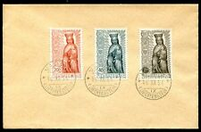 LIECHTENSTEIN 1954 329-331 MADONNA auf FDC BELEG 110€(J6551