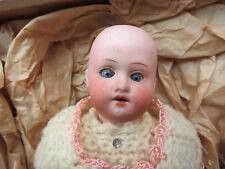 "Antique 8"" Herm Hermann Steiner Paper Mach'E German Doll 14/0 Open Mouth 4-Teeth"