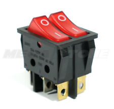 Dual Spst Rocker Switch Withred Neon Lamp On Off Kcd2 16a250vac Usa Seller