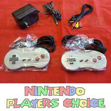 AC Adapter Power Cord + AV Video Cables + 2 Dog Bone Controllers Nintendo NES
