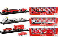 "AUTO TOW HAULERS ""COCA-COLA"" 3 PIECE SET 1/64 DIECAST MODELS BY M2 56000-TW02"