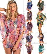 Kiniki Marrón a Través Vestido Pareo Playa / Informal Ponchos - 10 + Designs -