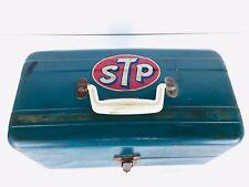 Vintage Union Steel Blue Tool Or Tackle Box New York USA