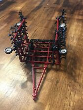 1/64 Custom Red 42ft Field Cultivator With Harrow Farm Toy