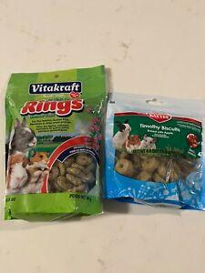 Vitakraft Nibble Rings 10.6 oz & Kaytee Timothy Biscuits 4 Oz, New