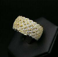 anello fascia veretta argento zirconi gioiello da donna FATTO IN ITALIA