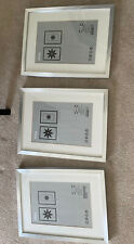3 IKEA RIBBA Photo / Picture Used Silver Frame Hanging/Standing Frame 30x 40cm